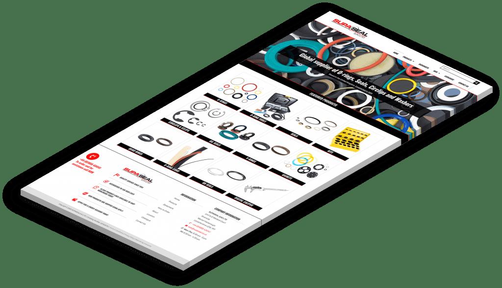 Supaseal Managed Industrial Components Website Design