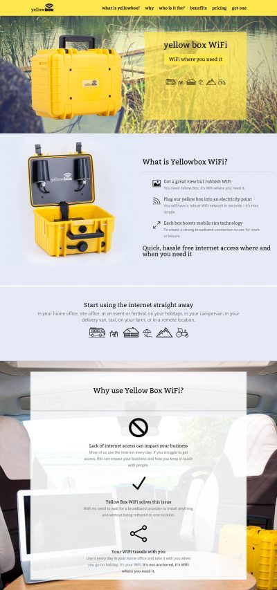4G WiFi Booster Website